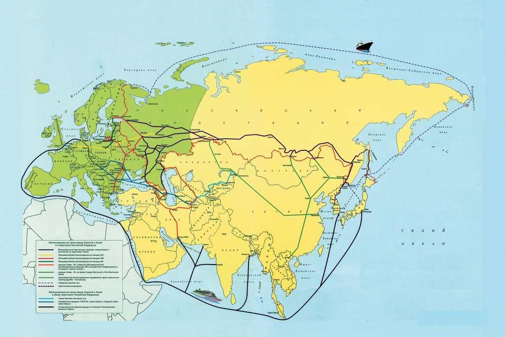 Сингапур на карте морского пути