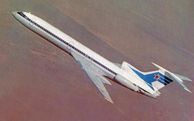 Ту-154 в полёте на зарубежных линиях