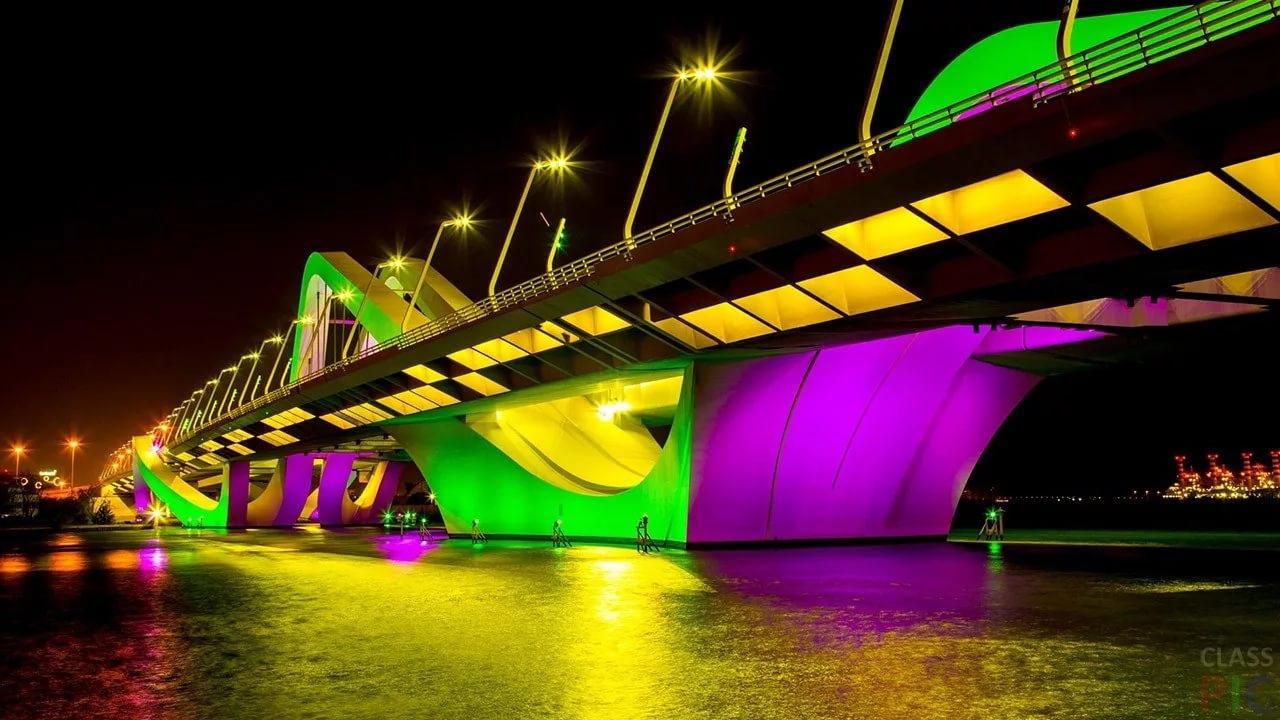 мост шейха зайеда в абу-даби