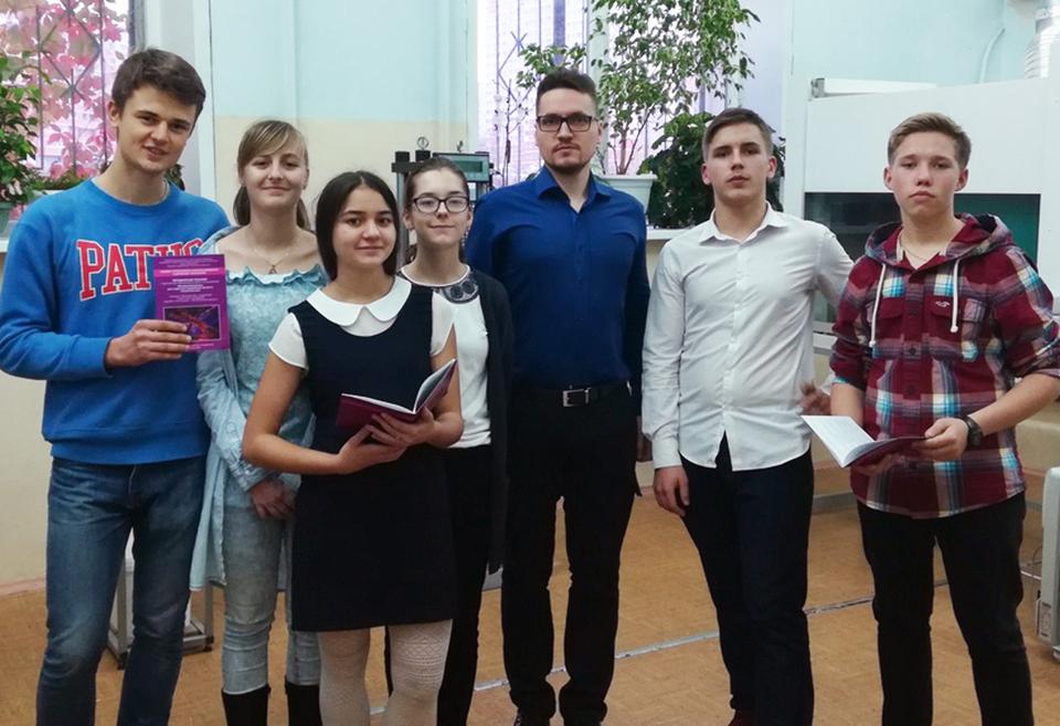 Занятие со школьниками на кафедре строительного материаловедения и дорожных технологий ЛГТУ
