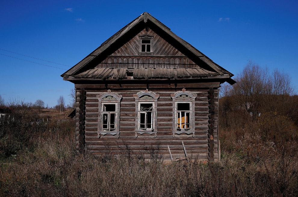 Заброшенная деревня в России