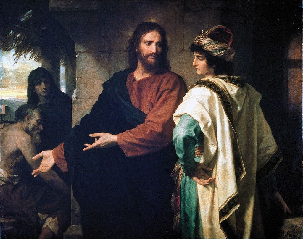 Генрих Гофман, «Христос и богатый юноша», 1889.