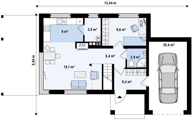 План первого этажа (исходник). Источник: https://www.shop-project.ru/catalog/projects/s3-126-1/