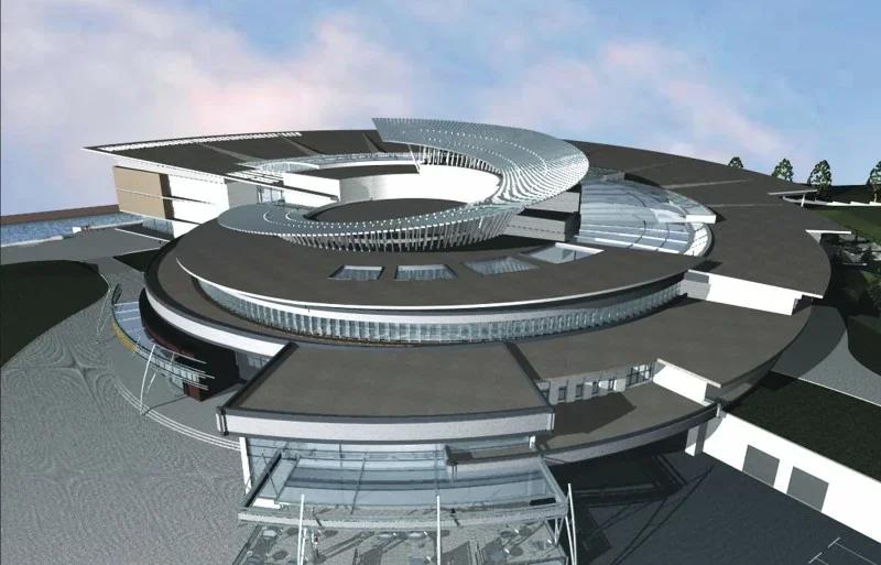 """""""Спираль жизни"""" - здание культурного центра с библиотекой и концертным залом"""