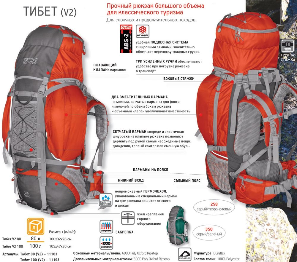 Рюкзак nova tour tibet 100 отзывы ортопедический рюкзак с анатомической спинкой пилот