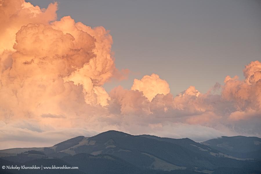 Beautiful mountain sunset_2