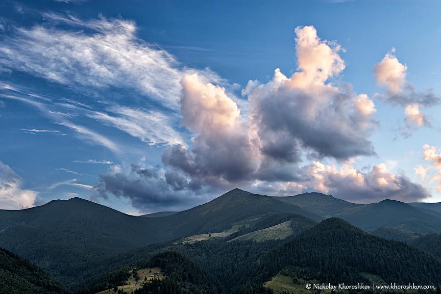 Beautiful mountain sunset_3