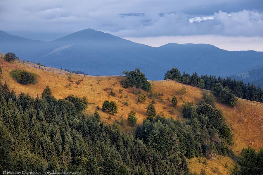 Carpathian mountain hills at cloudy sunrise_2 copy