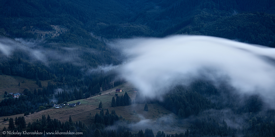 Foggy landscape of Carpathian mountains_7