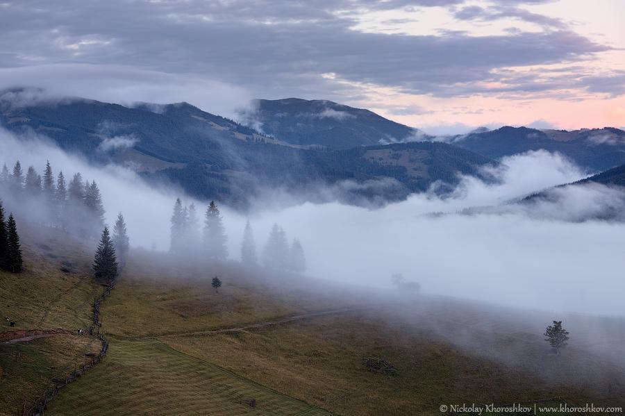Foggy landscape of Carpathian mountains_14