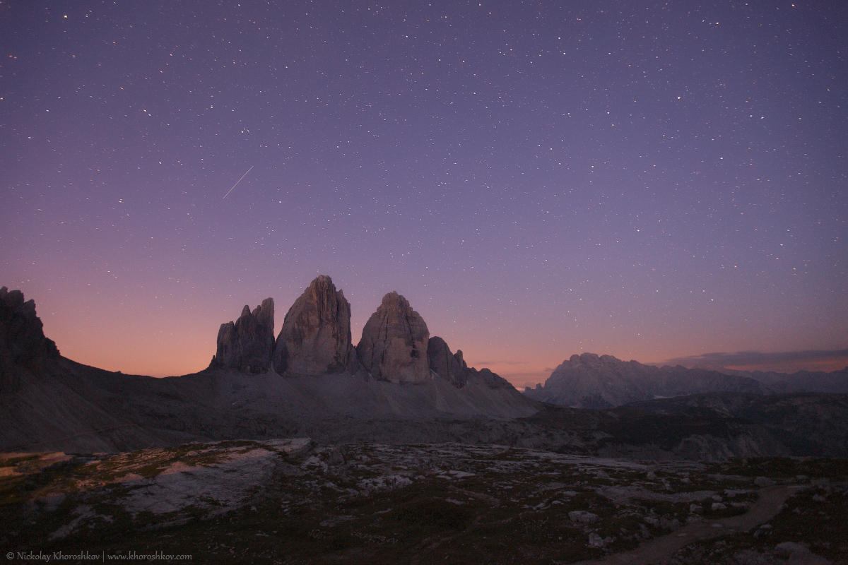Tre Cime at night