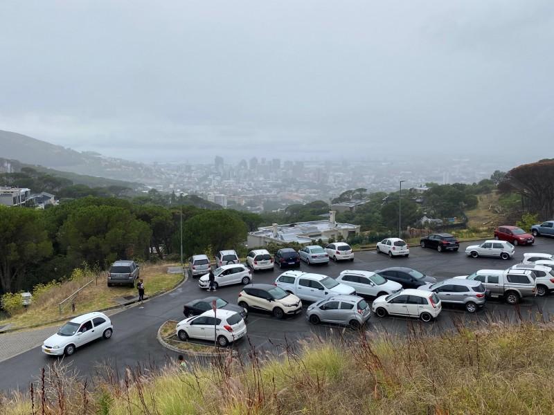 """""""Нижняя"""" парковка. Отсюда хорошо виден деловой центр Кейптауна"""
