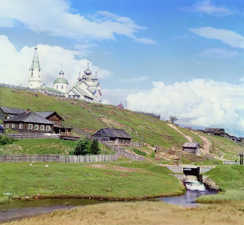 «Село Девятины и плотина св. Бориса». На самом деле это не плотина, а водоспуск шлюза св. Бориса