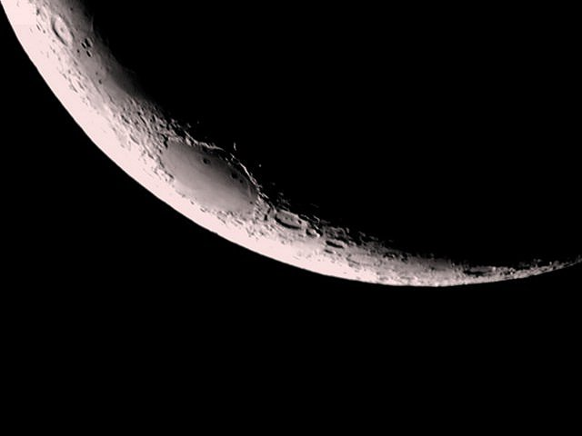 Crescent Moon Viewed from Southern Hemisphere