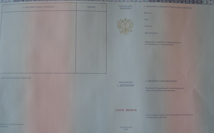 Дипломы нового образца Блог Андрея Федорова Теперь для того чтобы вложить вкладыш в диплом необходимо сложить его в четверо