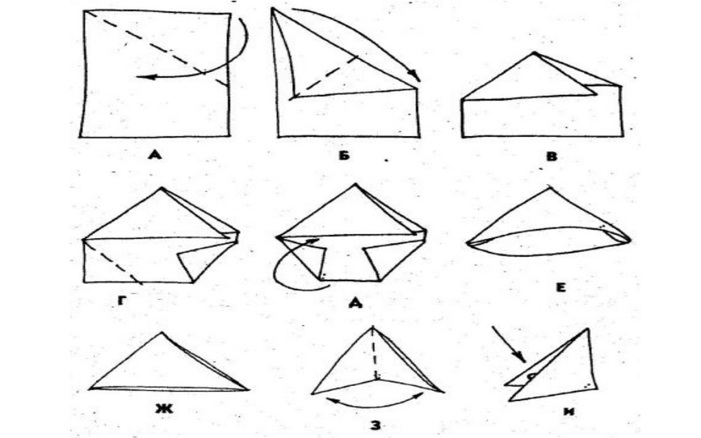 Как из бумаги сделать письмо треугольник