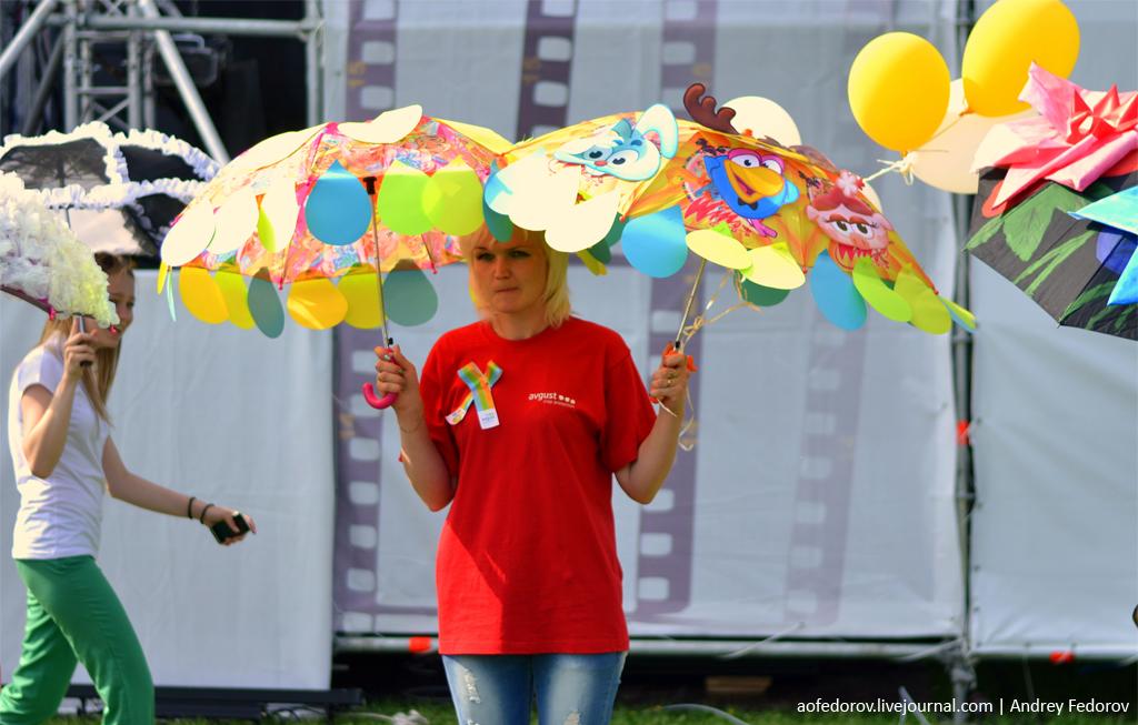 Как оформить зонт на конкурс