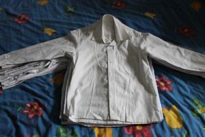 рубашка  белосерая 32 (13-44,5-56)
