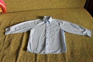 рубашка голубая Mothercare 6-7 122 2шт 49-10-40