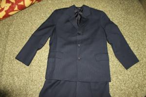 пиджак синий в рубчик