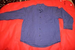 рубашка син в клетку 52-12,5-41.5