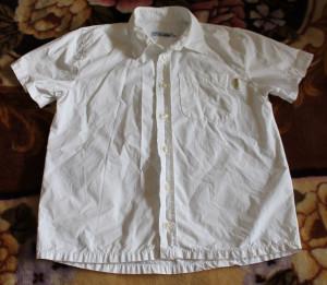 рубашка бел с кор рук M-teen 9-10y 140cm 55-43