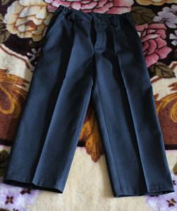 брюки темно синие в полоску 98 вн.ш61, ш.ш41, тал24