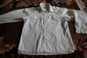 рубашка с погонами желтоватая New Fashion 34-152 62,5-14-52