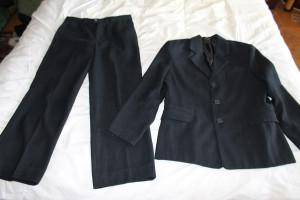 костюм син в полоску Бефо 134-34