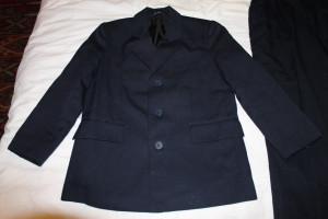 костюм син на пухл пиджак полишинель 134-64 рукав подшит на 3см 56.5-10-45