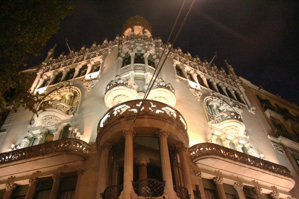 Barcelona-night-architectura-mybarcelona.info, apassionata, ФОТО, Барселона, Испания, путешествия, блог,