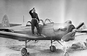 Гагарин на Як-18У