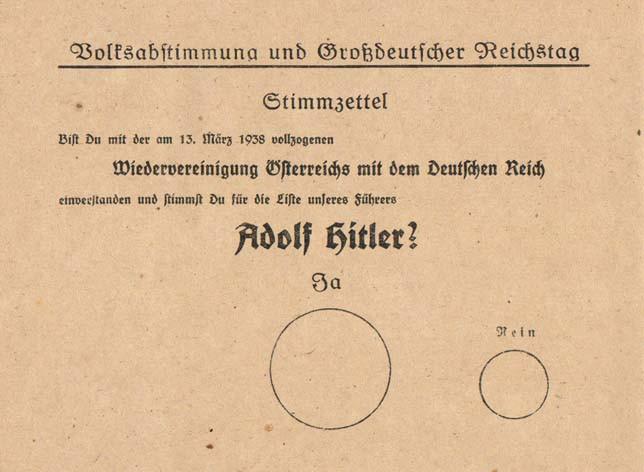 1 Stimmzettel-Anschluss