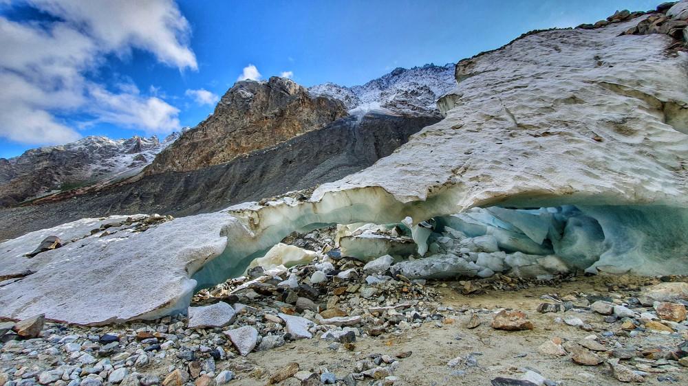 Цейский ледник. Телефонофото