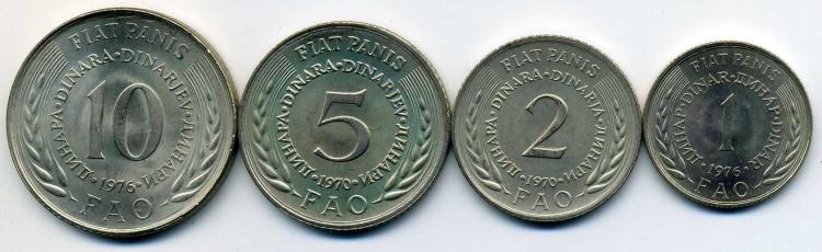 Реверсы монет набора ФАО. Фото из интернета.