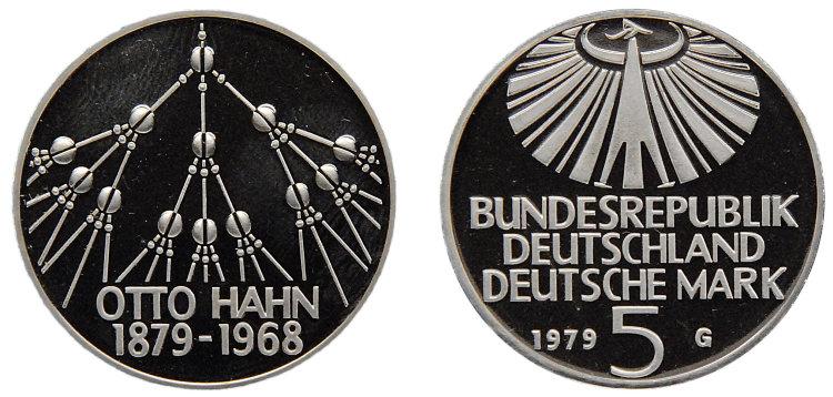 Исторические личности на монетах 5 марок ФРГ из недрагоценных металлов