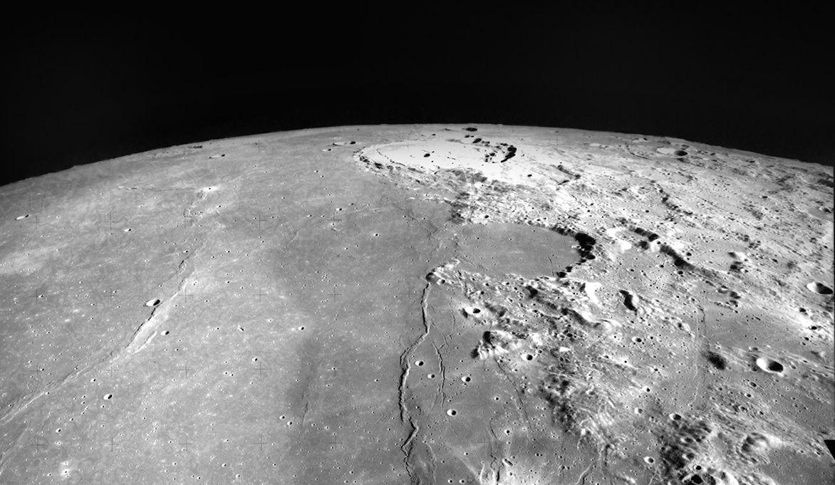 Северное полушарие Луны, планируемая площадка для прилунения корабля «Берешит». Предоставлено: НАСА.