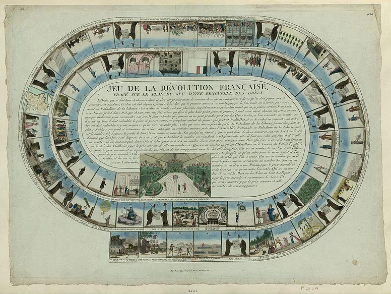 «Игра Французской революции», напечатанная в Париже около 1792 г.
