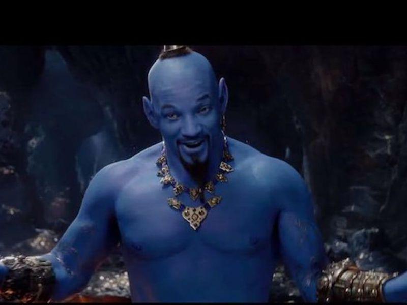 Уилл Смит в роли джина. Кадр из трейлера будущего фильма Гая Ричи.
