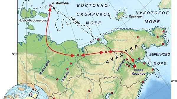 Путь товарообмена жителей Жоховской стоянки 9000 лет назад.