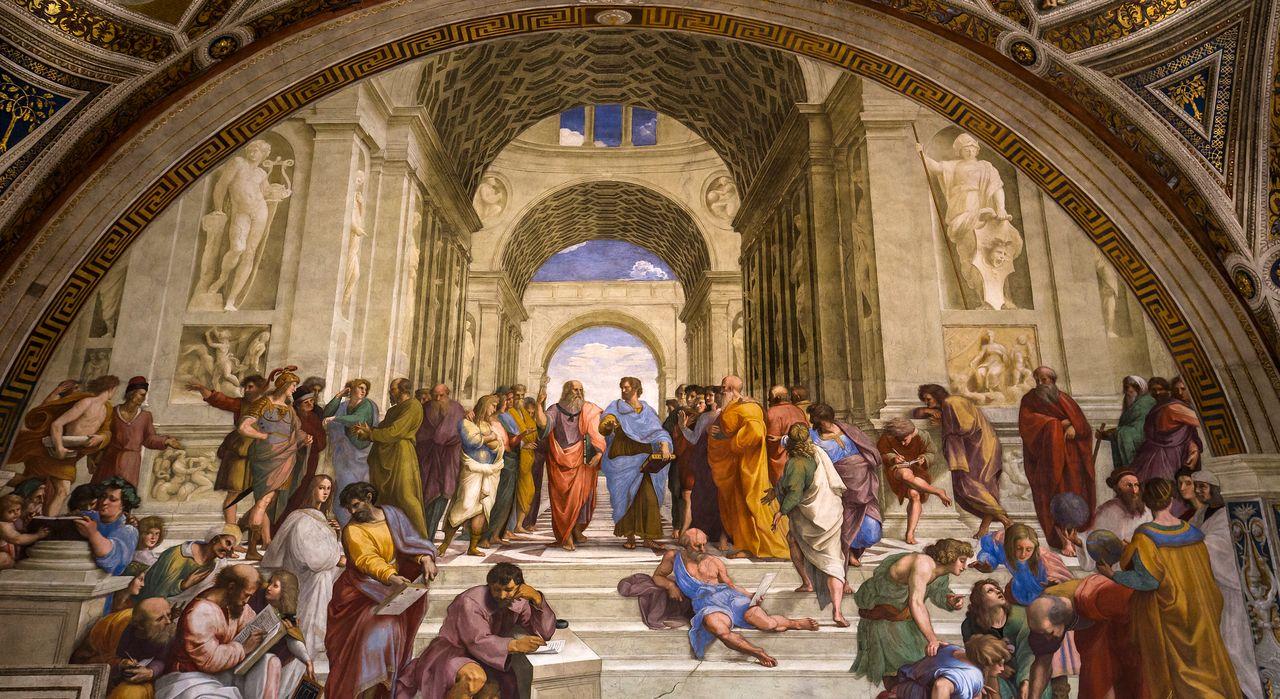 Несмотря на тесные исторические связи между наукой и философией со времён Платона, Аристотеля и других (здесь это связано со знаменитой Афинской школой Рафаэля), современные ученые часто воспринимают философию как совершенно отличную от науки и даже противоречащую ей. Наоборот, мы считаем, что философия может оказать важное и продуктивное влияние на науку. Изображение предоставлено: Shutterstock.com/Isogood_patrick.