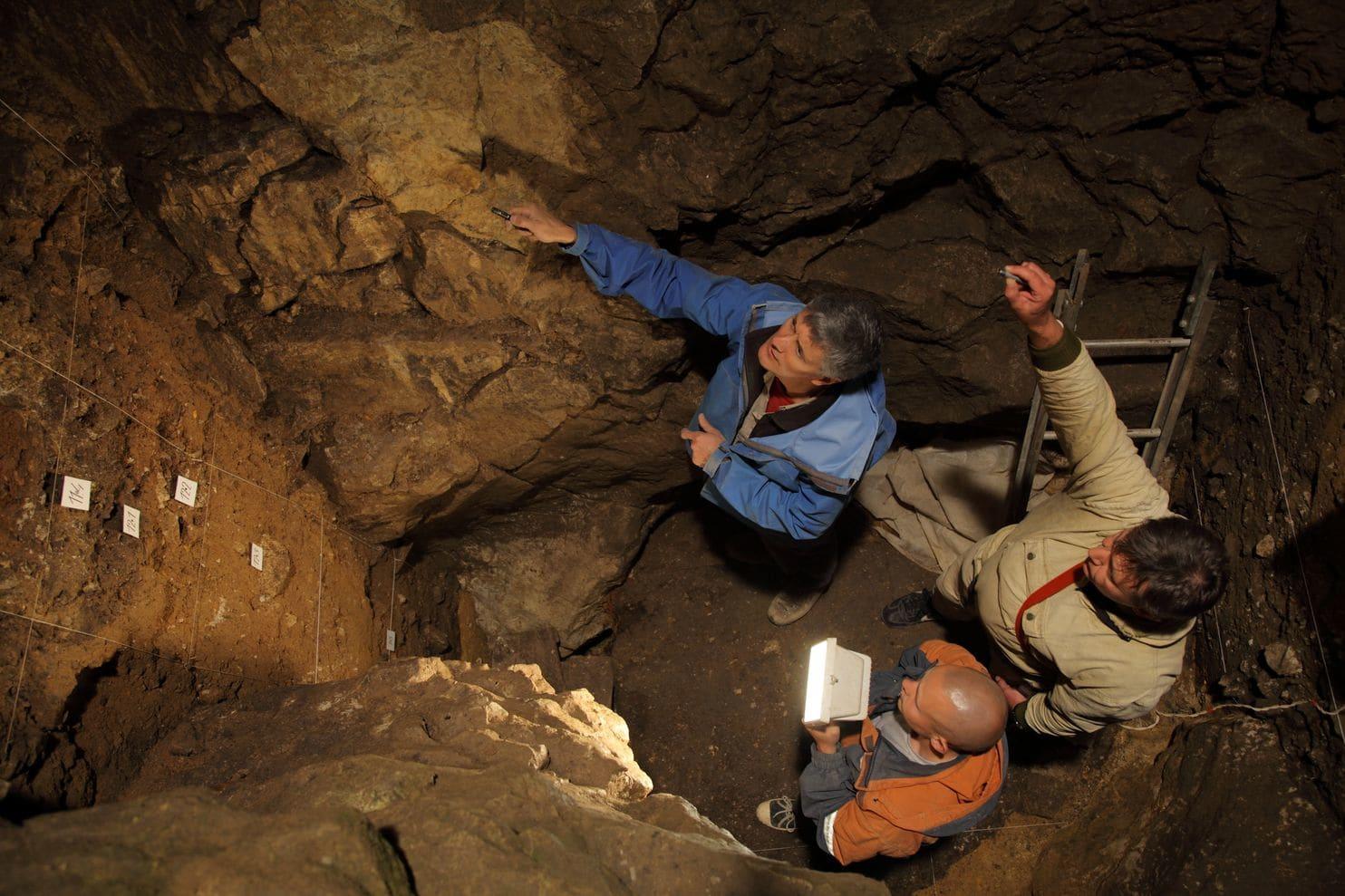 качестве примера археологические находки в пещере во франции фото должно содержать крупных