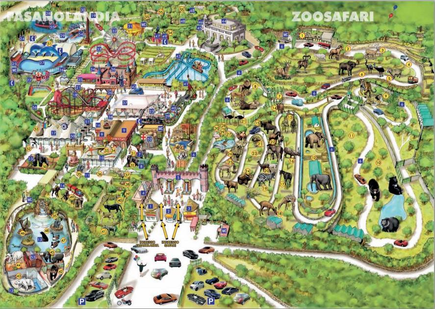 mappa zoo