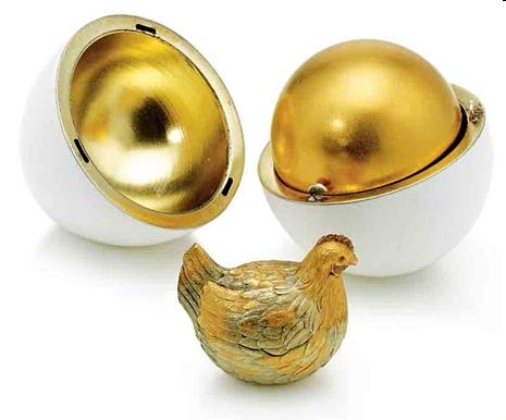 Пасхальное яйцо «Курочка». Подарок императора Александра III супруге, императрице Марии Федоровне на Пасху 1885 года