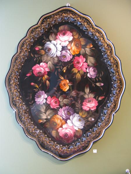 поднос цветы 2