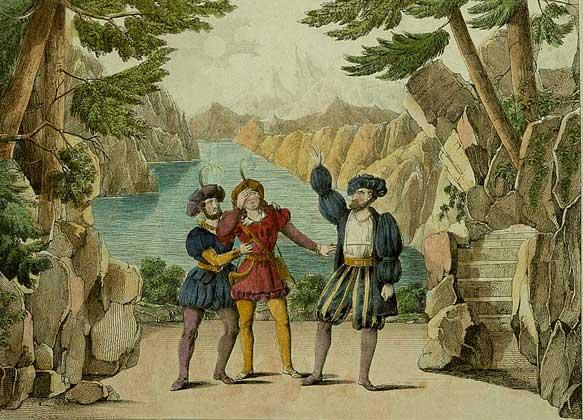 Сцена из оперы Дж.Россини