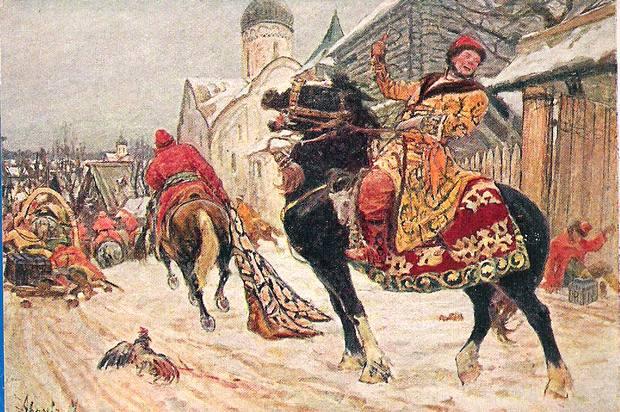 Иоанн Грозный с опричным войском и стрельцами окружил Новгород