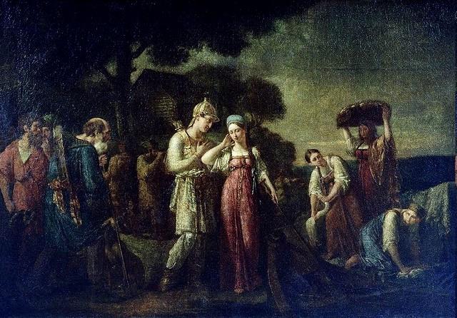 Первая встреча князя Игоря с Ольгой
