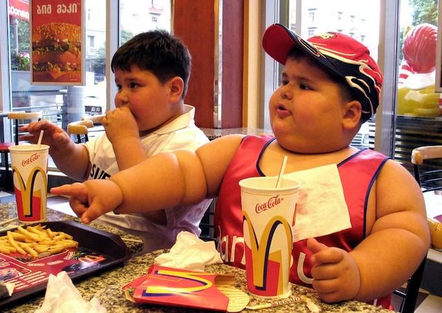 в ресторане Макдоналдс