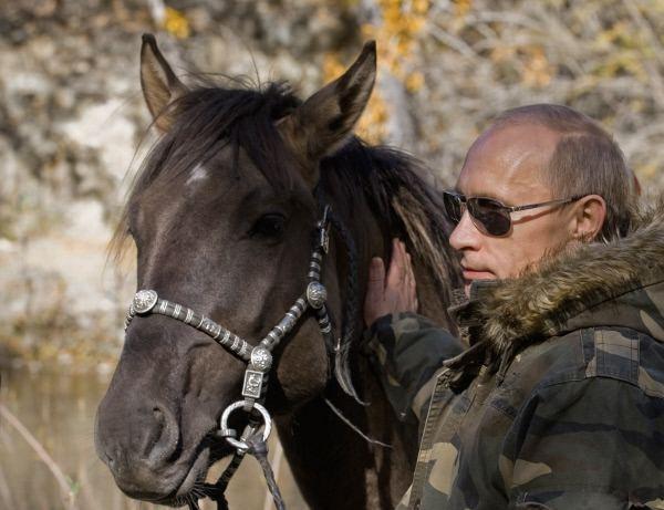 Путин и конь